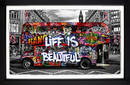 Double Decker by Mr. Brainwash - Framed Limited Edition on Paper